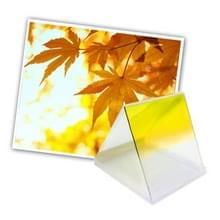 Vierkant Gradual geleidelijke veranderend Geel kleurverloop Lens Filter (geel)