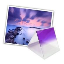 Vierkant Gradual geleidelijke veranderend Paars kleurverloop Lens Filter (paars)