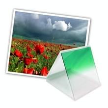 Vierkant Gradual geleidelijke veranderend Groen kleurverloop Lens Filter (groen)
