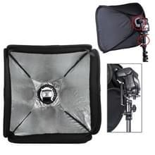 40cm Opvouwbare Flitser Soft Box met Flitslicht houder (EB-040) (zwart)