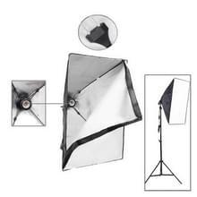 Opvouwbare Soft Box met E27 gloeilamp fitting, Afmetingen: 50x70cm (zwart)
