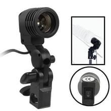 Studiolamp Standaard met E27 AC Aansluiting en Paraplu houder (zwart)