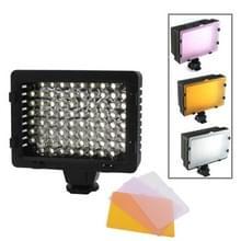 76 LED Videolamp met drie kleurtemperaturen Transparante Films (Geelbruin/ Wit / Paars)