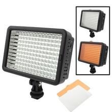 160 LED Videolamp met twee Kleurtemperatuur Transparante Films (Geelbruin/ Wit), US stekker