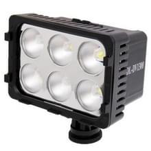 DL-dv1300 6 led video licht ontmoette twee kleur transparant filter cover nl 7.2V 2200mah np-f550 li-ion batterij / accu voor camera / video camcorder