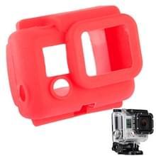 Beschermende siliconen hoes / case voor Gopro Hero 3 (rood)