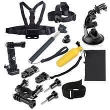 14 In 1 mega accessoire set voor outdoor sporters geschikt voor GoPro HERO (2018) 7 / 6 / 5 / 4 / 3+ / 3 / 2 / 1 en andere sport / actie camera's
