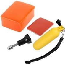 4 In 1 handheld Bobber Monopod + Drijvende spons + 3M Tape + schroeven Water Sports Set voor GoPro HERO 6 / 5 / 4 / 3+ / 3 / 2 / 1 / SJ4000