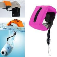 Onderdompelbare drijvende Bobber Hand polsband voor GoPro Hero 4 / 3 + / 3 / 2 / 1 / Powershot / D20 / D30 / Mini Camcorder SJ4000(hard roze)