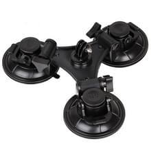 Driepoot zuignap met houder aan Zeshoekige schroevendraaier voor GoPro HERO 6 / 5 / 4 / 3+ / 3 / 2 / 1 (zwart)