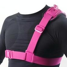 Licht gewicht Special Sports DV Borst Gordel voor GoPro HERO 6 / 5 / 4 / 3+ / 3 / 2 / 1 (hard roze)
