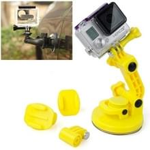 TMC Car Suction Cup Mount + Tripod Adapter + Handle Screw for GoPro Hero 4 / 3+ / 3 / 2 / 1(Yellow)