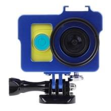 Huisvesting van Shell metaal beschermings Cage ontmoette Basic Mount + schroeven + UV-Lens Filter voor Xiaoyi Sport Camera(blauw)