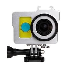 Huisvesting van Shell metaal beschermings Cage ontmoette Basic Mount + schroeven + UV-Lens Filter voor Xiaoyi Sport Camera(zilver)