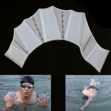 Siliconen zwemmen Web vinnen Hand Flippers Training handschoenen  M(Blue)