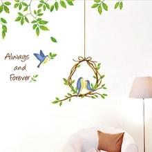 DIY mode zelf zelfklevende PVC verwisselbare muur Stickers / House interieur foto's--vogel  grootte: 70 x 50 cm