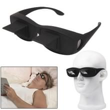 Creatieve High-Definition horizontale Crystal + Plastic Glasses(Black) liggen