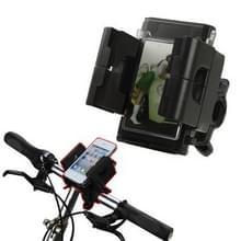 Universele fiets houder voor iPhone 4 & 4S / 3 g / 3G / GSM / GPS / PDA / MP3 / MP4  breedte: 45mm-90mm(Black)