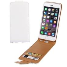 iPhone 6 / 6s vertikaal Litchi structuur PU leren Flip Hoesje met opbergruimte voor pinpassen wit