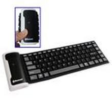 84 Keys Mini Bluetooth Flexible Silicone Keyboard for iPad 4 / New iPad (iPad 3) / iPad 2 / iPad / PC / Laptop  Operating Distance: 10m(Black)