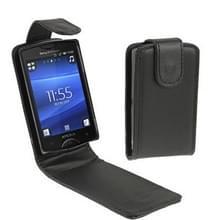 Hoge kwaliteit lederen Case voor Sony Ericsson ST15i(Black)