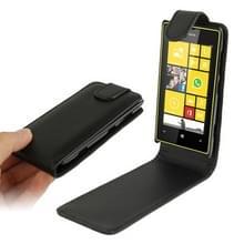 Pure Kleur Vertical Flip lederen hoesje voor Nokia Lumia 520 (zwart)