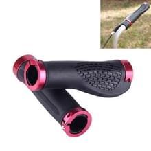 OQSPORT 2 stuks fiets handvatten dekt bilaterale Lock MTB fiets antislip Stuur Grips(Red)