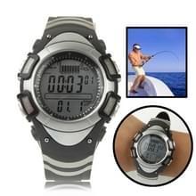 Digitale visserij Barometer horloge met Thermometer / hoogtemeter / Weather Forecast / druk Trend grafiekweergave / 30m waterdicht / Storm Alarm(Black)