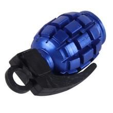 2 stk universeel granaat vormige fiets Tire Valve Caps(Blue)