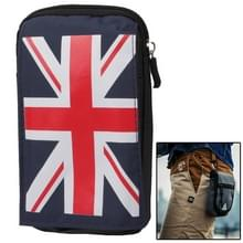 Multifunction British Flag Hanging Waist Bag met Carabiner Hook(donker blauw)