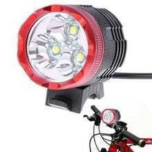 3 x CREE XM-L T6 1400LM 3-Mode fiets licht en koplamp, KX-H306(Red)