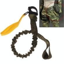 Afgescheiden veiligheid Lanyard riem touw / Quick Release Buckle veiligheid touw / helikopter verzekering touw (leger-groen)