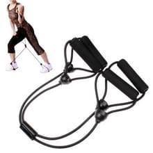 X-vormige Rubber Body Building Training Pull touw Exerciser(Black)