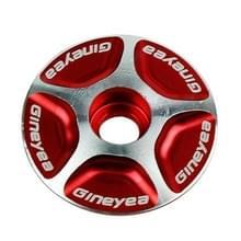 Gineyea fiets CNC aluminium fiets Headset Cap(Red)