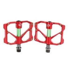 1 paar aluminiumlegering pedalen Platform CNC staal as 9/16 inch voor fiets MTB BMX(Red)