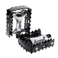 2 PC's YD193 aluminiumlegering Platform pedalen CNC staal as 9/16 inch voor fiets MTB BMX(Black)