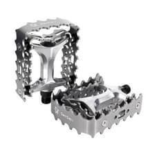 2 PC's YD193 aluminiumlegering Platform pedalen CNC staal as 9/16 inch voor fiets MTB BMX(Grey)