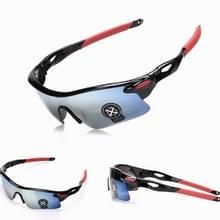Explosieveilig buiten fietsen sport Sunglasses(Black+Blue)