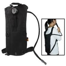 2.5L tactische Duffle Nylon Waterbag rugzak met buis / Waterbag(Black)