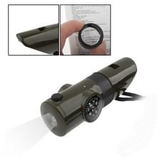 7 in 1 (Survival fluit / kompas / Thermometer / LED licht / Vergrootglas / Retroreflector / String)