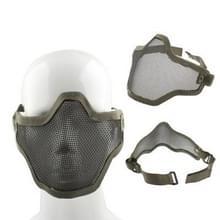 Halve netto Mesh stijl bescherming gezichtsmasker met elastische riem & Velcro (leger-groen)