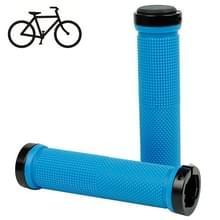 Fiets MTB Fixed Gear Fixie Lock-on Grips Rubber Stuur Grip(Blue)