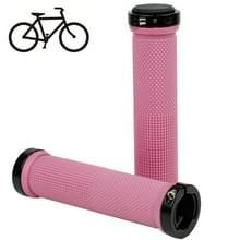 Fiets MTB Fixed Gear Fixie Lock-on Grips Rubber Stuur Grip(Pink)