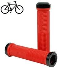 Fiets MTB Fixed Gear Fixie Lock-on Grips Rubber Stuur Grip(Red)