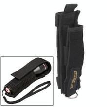 Handige Nylon Holster voor zaklamp fakkel klimmen Stick(Black)