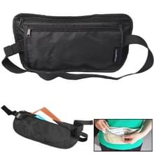 Draagbare sluiten-montage ultralichte documenten / Pocketbook Multifunctiona anti-diefstal taille Bag(Black)