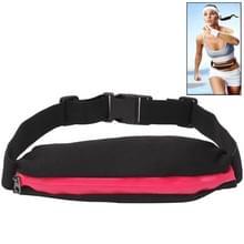 Outdoor Sports Waterdicht Elastic Waist Bag Travel Running Fanny Pack, Bag Size: About 19.5 x 7.5cm(hard roze)