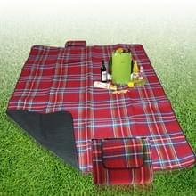 200x150cm rode buiten strand Camping picknick Mat Blanket(Red)