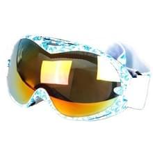 SG-155 dubbele Anti-UV anti-mist Lens Skate Snowboard Skibrillen met verstelbare antislip-Jacquard riem