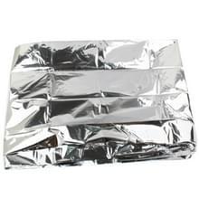 Compact lichtweight Aluminized Windproof Emergency Blanket (Afmeting: 130x210cm)(zilver)